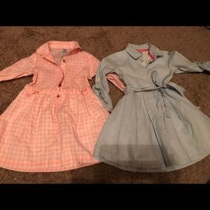 Carter's toddler dresses set of two size 2T